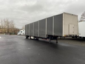 2008 TRAIL KING 48' DROP DECK CURTAIN VAN/ GLASS HAULER 6271121715